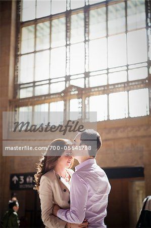 Couple Kissing in Train Station Stock Photo - Rights-Managed, Image code: 700-05641788