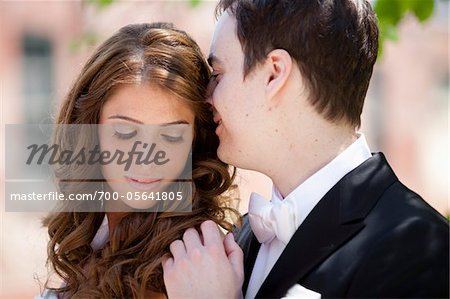 Close-Up of Bride and Groom Stock Photo - Rights-Managed, Image code: 700-05641805