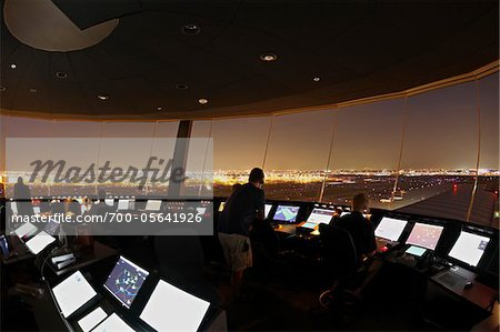 Air Traffic Control Tower, Toronto, Ontario, Canada Stock Photo - Rights-Managed, Image code: 700-05641926