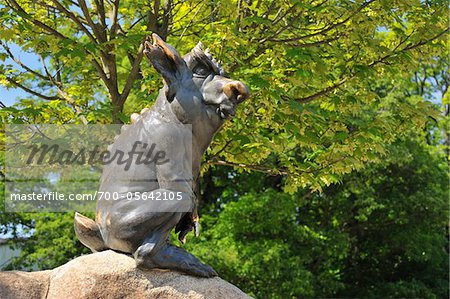 Sculpture, Hexentanzplatz, Thale, Harz District, Saxony Anhalt, Germany