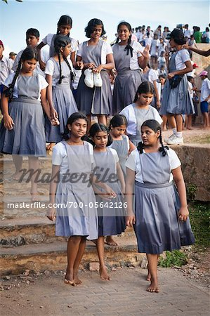 Schoolgirls Touring Galle Fort, Galle, Sri Lanka Stock Photo - Rights-Managed, Image code: 700-05642126