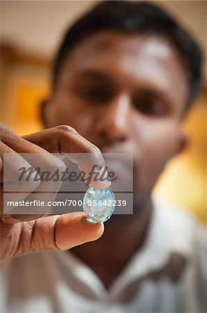 Man Holding Gemstone, Kandy, Central Province, Sri Lanka Stock Photo - Rights-Managed, Image code: 700-05642239