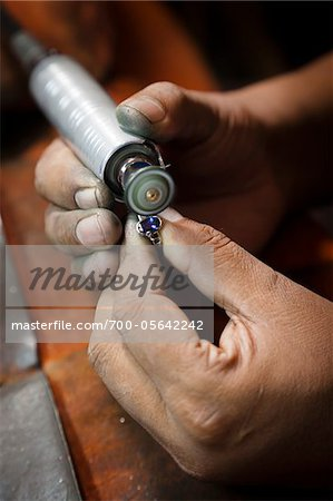 Jewellery Maker Filing Ring, Kandy, Central Province, Sri Lanka Stock Photo - Rights-Managed, Image code: 700-05642242