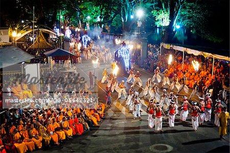Procession of Dancers, Esala Perahera Festival, Kandy, Sri Lanka Stock Photo - Premium Rights-Managed, Artist: R. Ian Lloyd, Code: 700-05642321
