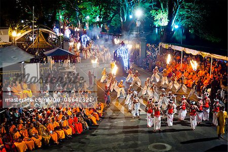 Procession of Dancers, Esala Perahera Festival, Kandy, Sri Lanka