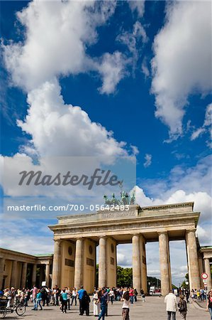 Crowds of People at Brandenburg Gate, Berlin, Germany