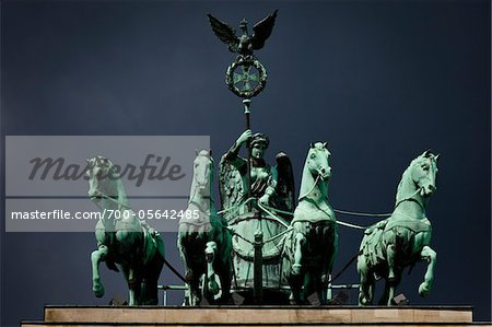 Quadriga atop Brandenburg Gate, Berlin, Germany