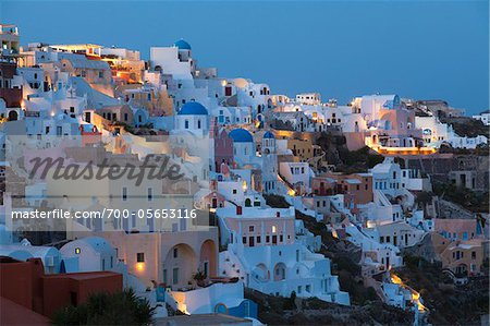 View of Oia, Santorini Island, Greece Stock Photo - Rights-Managed, Image code: 700-05653116