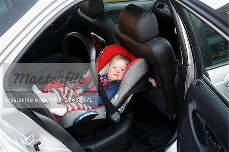 Baby Girl in Car Seat Stock Photo - Rights-Managed, Image code: 700-05662371