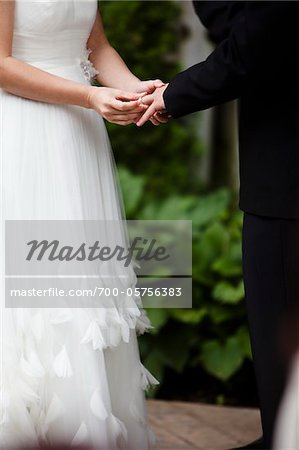 Bride and Groom Exchanging Rings Stock Photo - Rights-Managed, Image code: 700-05756383