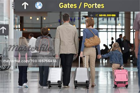 Family in Airport Stock Photo - Rights-Managed, Image code: 700-05756436