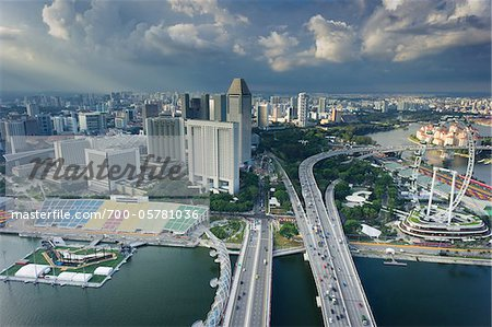 Overview of City, from Marina Bay Sands, Singapore Stock Photo - Rights-Managed, Image code: 700-05781036