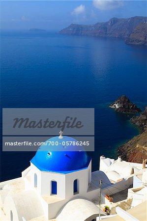 Church, Oia, Santorini Island, Greece