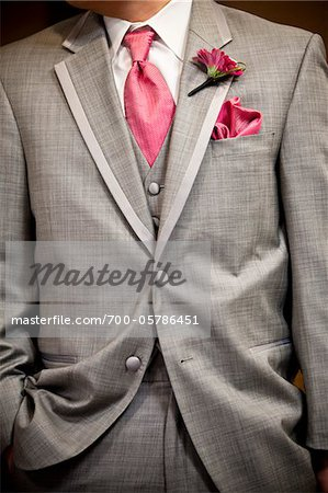 Close-Up of Groom's Attire Stock Photo - Rights-Managed, Image code: 700-05786451