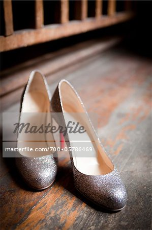 Pair of Silver Shoes Stock Photo - Rights-Managed, Image code: 700-05786469