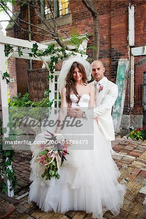 Portrait of Bride and Groom Stock Photo - Rights-Managed, Image code: 700-05786473