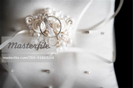 Wedding Rings on Cushion Stock Photo - Rights-Managed, Image code: 700-05803126