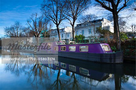 Boat Moored on Regent's Canal, Little Venice, London, England Stock Photo - Rights-Managed, Image code: 700-05803174