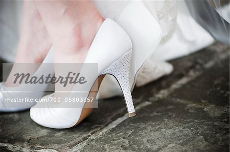 Close-Up of Bride's Shoes Stock Photo - Rights-Managed, Image code: 700-05803357