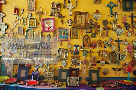 Crosses and Religious Items in Shop, Casa del Naranjos, Patzcuaro, Mexico Stock Photo - Rights-Managed, Image code: 700-05803543