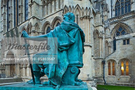 Statue in Front of York Minster, York City, North Yorkshire, England Stock Photo - Rights-Managed, Image code: 700-05803567