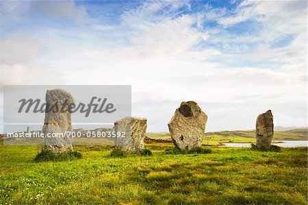 Callanish Stones, Callanish, Isle of Lewis, Outer Hebrides, Scotland Stock Photo - Rights-Managed, Image code: 700-05803592