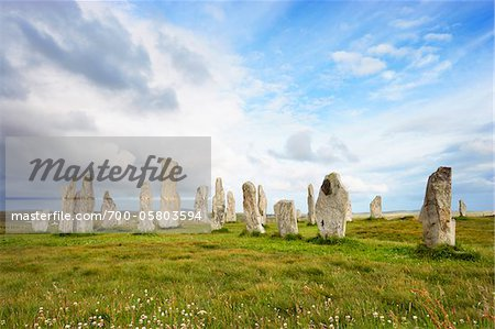Callanish Stones, Callanish, Isle of Lewis, Outer Hebrides, Scotland Stock Photo - Rights-Managed, Image code: 700-05803594