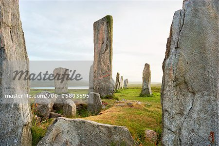 Callanish Stones, Callanish, Isle of Lewis, Outer Hebrides, Scotland Stock Photo - Rights-Managed, Image code: 700-05803595