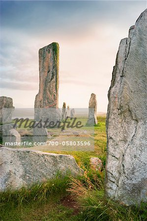 Callanish Stones, Callanish, Isle of Lewis, Outer Hebrides, Scotland Stock Photo - Rights-Managed, Image code: 700-05803596