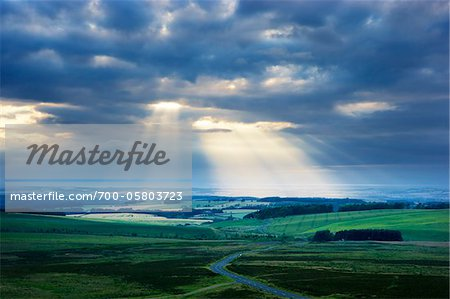 Rural Landscape, Lammermuir Hills, East Lothian, Scotland Stock Photo - Rights-Managed, Image code: 700-05803723