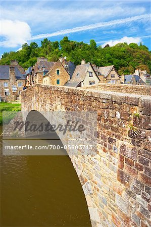Arch Bridge over the Rance River, Dinan, Cotes-d'Armor, Bretagne, France Stock Photo - Rights-Managed, Image code: 700-05803743