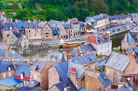 Rooftops, Dinan, Cotes-d'Armor, Bretagne, France Stock Photo - Rights-Managed, Image code: 700-05803749