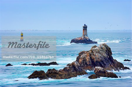 Lighthouse at Pointe Raz, Finistere, Bretagne, France Stock Photo - Rights-Managed, Image code: 700-05803760