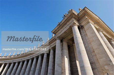 Saint Peter's Basilica Colonnade, Saint Peter's Square, Vatican City, Rome, Italy Stock Photo - Rights-Managed, Image code: 700-05821963
