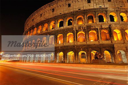 Colosseum at Night, Rome, Lazio, Italy Stock Photo - Rights-Managed, Image code: 700-05821977