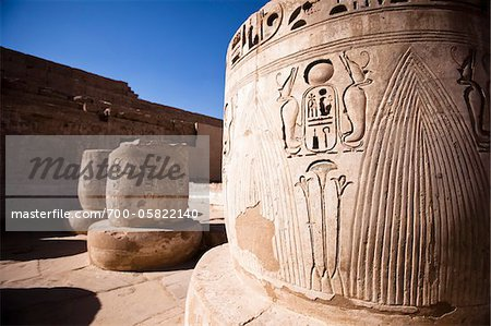 Close-Up of Hierglyphics, Luxor, Egypt Stock Photo - Rights-Managed, Image code: 700-05822140