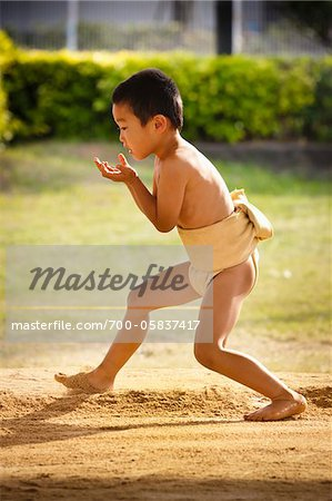 Young Sumo Wrestler, Tokunoshima, Kagoshima Prefecture, Japan Stock Photo - Rights-Managed, Image code: 700-05837417