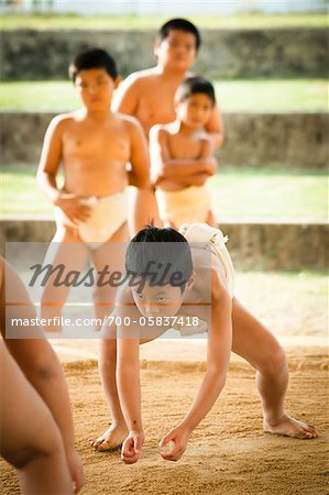 Young Sumo Wrestlers, Tokunoshima, Kagoshima Prefecture, Japan Stock Photo - Rights-Managed, Image code: 700-05837418