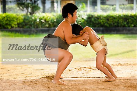 Young Sumo Wrestlers, Tokunoshima, Kagoshima Prefecture, Japan Stock Photo - Rights-Managed, Image code: 700-05837419