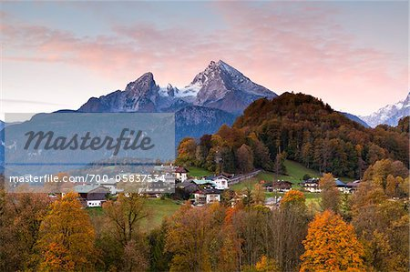Watzmann Mountain at Dawn, Berchtesgaden, Bavaria, Germany Stock Photo - Rights-Managed, Image code: 700-05837534