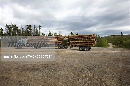 Logging Truck Stock Photo - Rights-Managed, Image code: 700-05837594