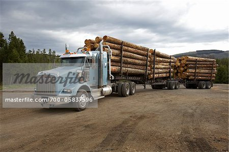 Logging Truck Stock Photo - Rights-Managed, Image code: 700-05837596