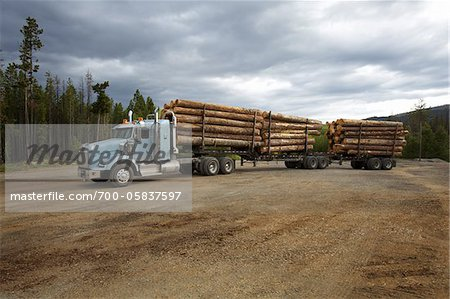 Logging Truck Stock Photo - Rights-Managed, Image code: 700-05837597