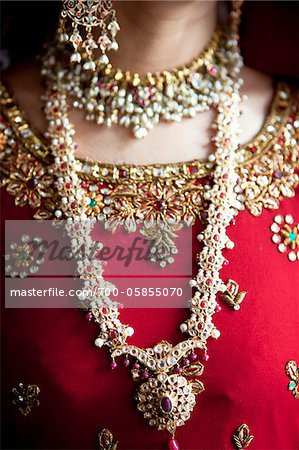 Close-Up of Bride's Jewelry Stock Photo - Rights-Managed, Image code: 700-05855070
