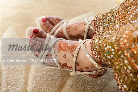 Close-Up of Bride's Feet Stock Photo - Rights-Managed, Image code: 700-05855072