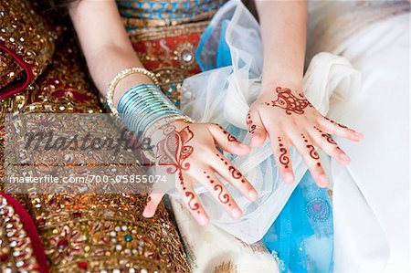 Mendhi on Girl's Hands Stock Photo - Rights-Managed, Image code: 700-05855074