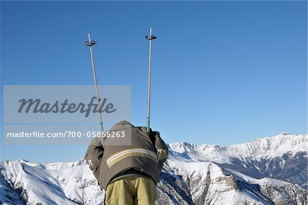 Rearview of Boy Skiing, La Foux d'Allos, Allos, France Stock Photo - Rights-Managed, Image code: 700-05855263