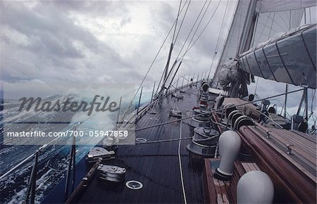Yacht Endeavour Sailing Through Stormy Seas, Atlantic Ocean Stock Photo - Rights-Managed, Image code: 700-05947858