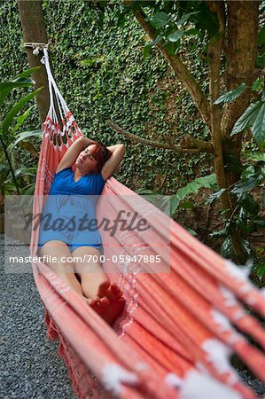 Woman in Hammock, Paraty, Rio de Janeiro, Brazil Stock Photo - Rights-Managed, Image code: 700-05947885