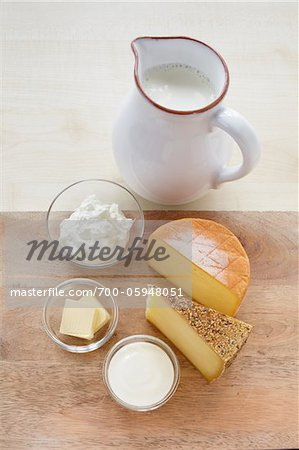 Still Life of Dairy Products Stock Photo - Rights-Managed, Image code: 700-05948051